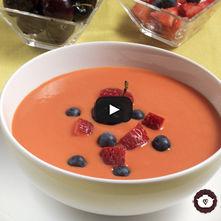 Sopa de frutas tropicales