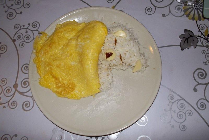 Osita de arroz y huevo