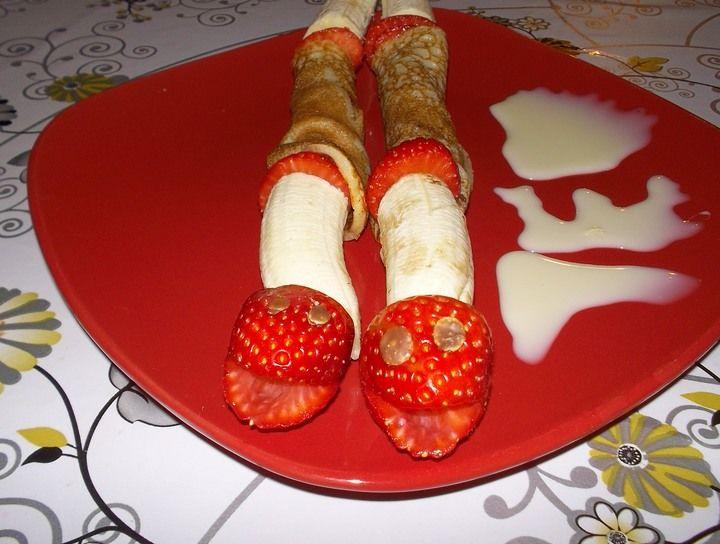Viborita de crepe y fruta