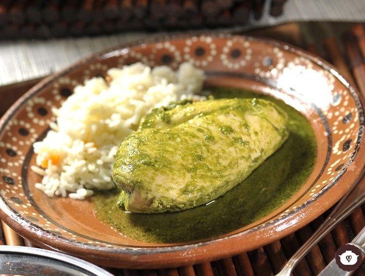 Pechugas de pollo en salsa de cilantro