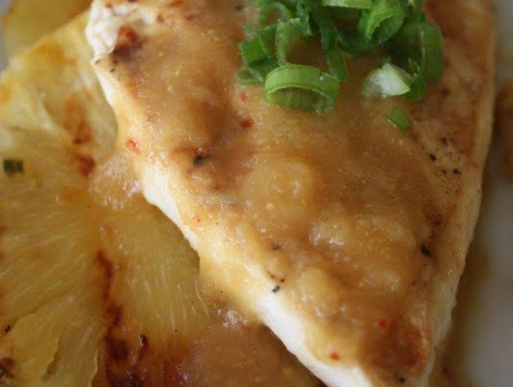 Tofu a la parrilla con salsa de piña