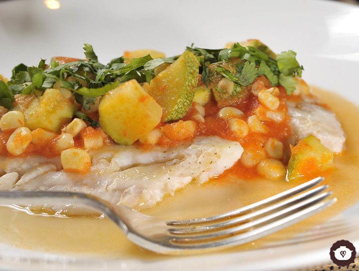 Filete de pescado con calabacitas