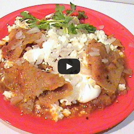 Chilaquiles con jitomate
