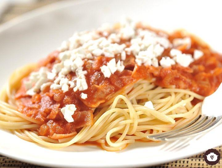 Spaghetti a la Amatriciana