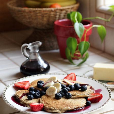 Pancakes de avena y yogur