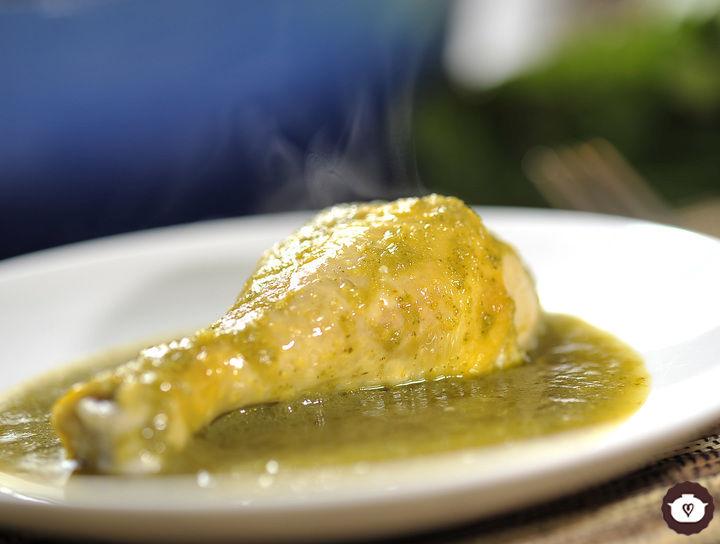Pollo en salsa verde