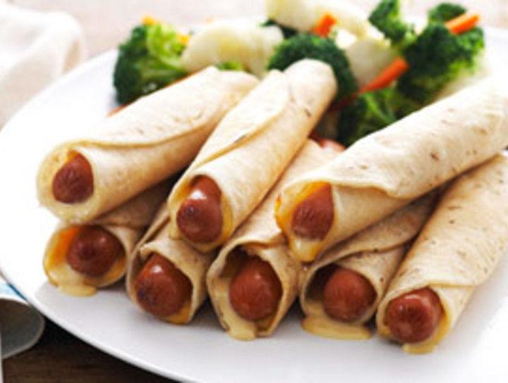 Hot Dog Tortilla Wrap Recipe