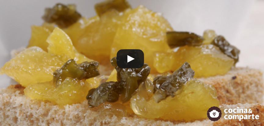 Mermelada de piña con nopal