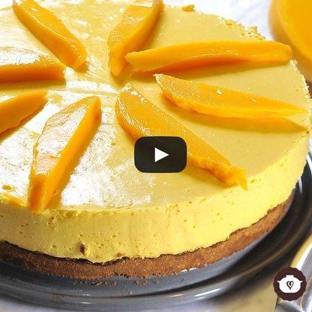 Pastel helado de mango