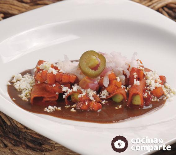 Enchiladas de jícama