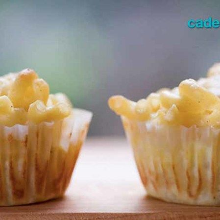 Cupcakes de mac & cheese