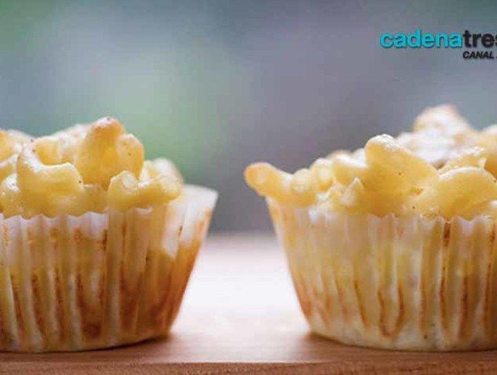 Cupcakes de mac & cheese