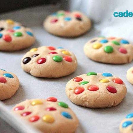 Galletas de chocolate con M&M