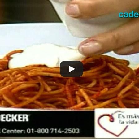 Spaguetti fideo al guajillo