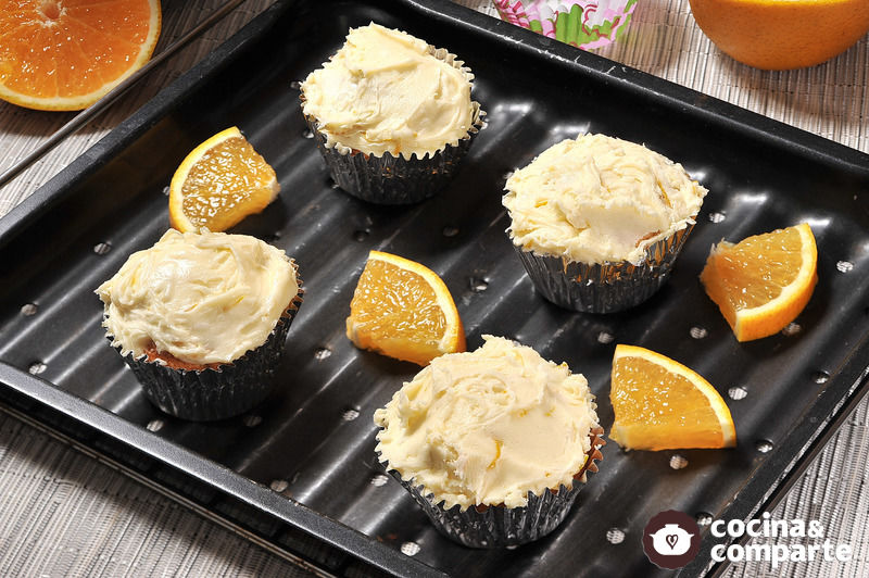Cupcakes de naranja