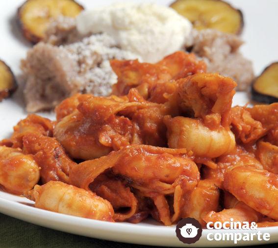 Camarones al chilaquil