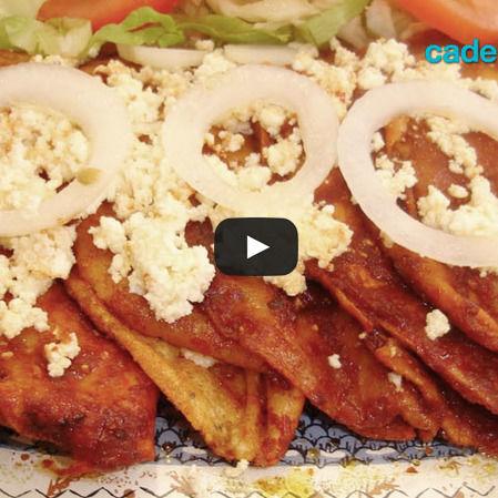 Enchiladas con verdura y carne de cerdo
