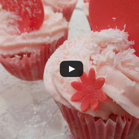 Cupcakes de queso con fresa