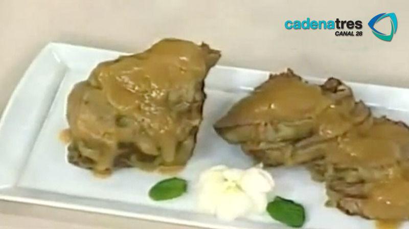 Filete en salsa de cebolla