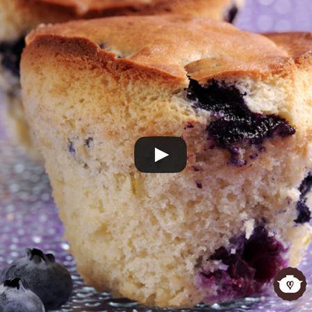 Bollitos de mora azul (Bluberry muffins)