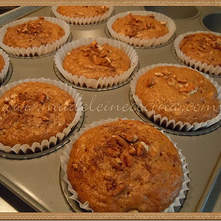 Muffins de plátano y manzana para diabéticos