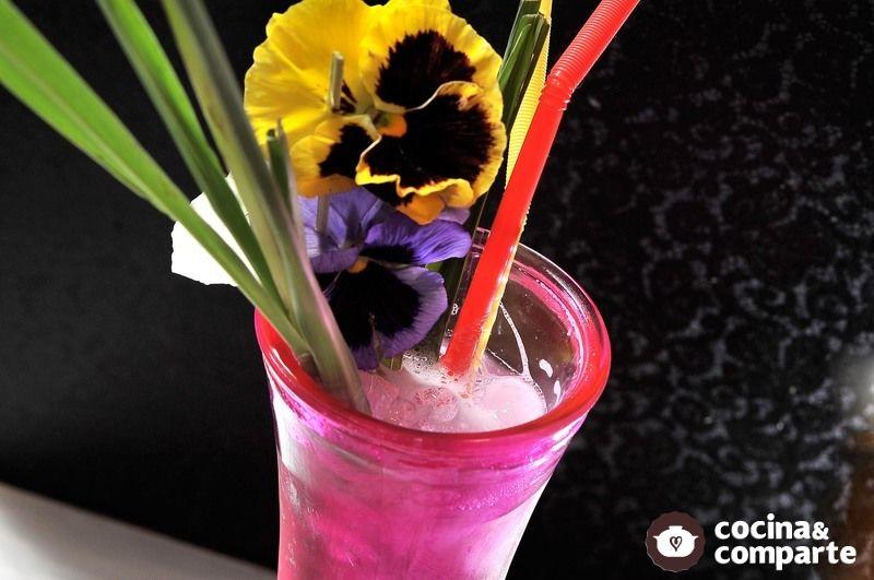 Agua fresca de violetas Enamorada morada