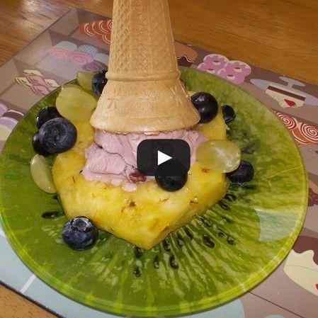 Helado de frutas