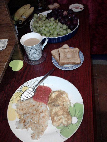 Omelet de champiñones y morrón
