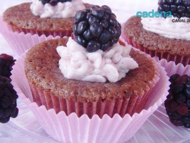 Cupcakes de moras azules