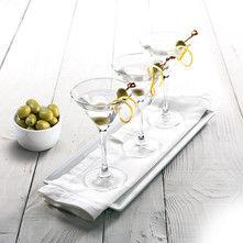 Dry martini con aceitunas