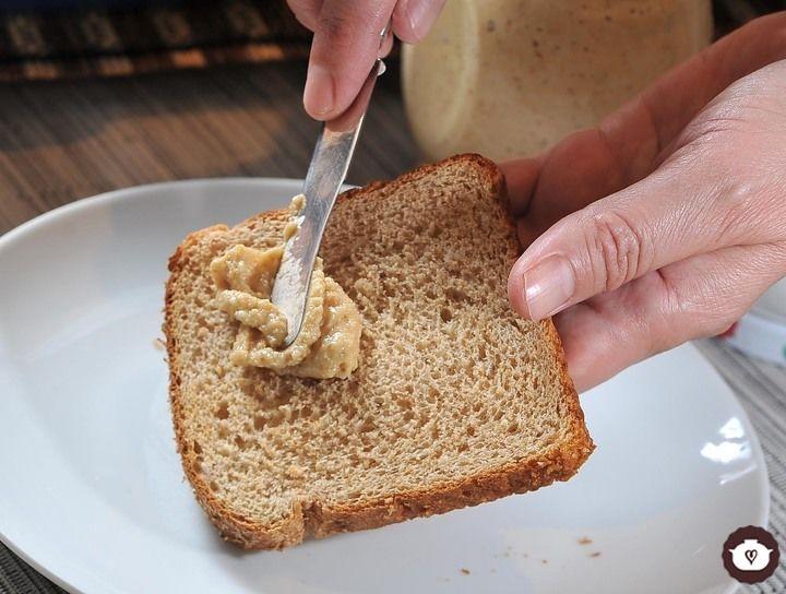 Mantequilla de cacahuate casera
