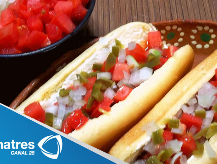 Hot dogs al mojo de ajo