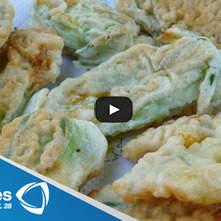Calabacitas fritas con coulis de jitomate