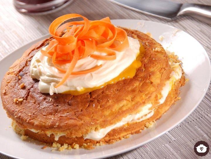 Pastel de mango y zanahoria