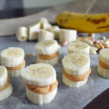Sándwich de plátano y crema de cacahuate (sin pan ni carbohidratos)