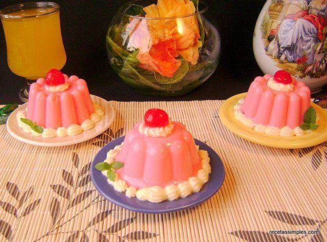 Crema chantilly con gelatina