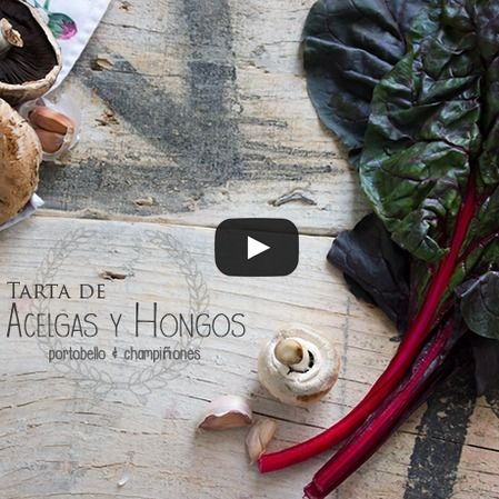 Tarta de acelgas y hongos portobello
