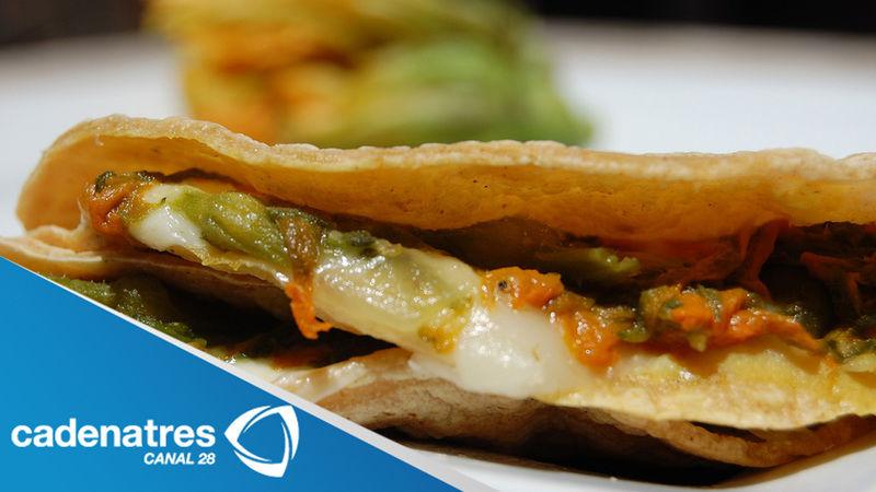 Tacos de flor de calabaza