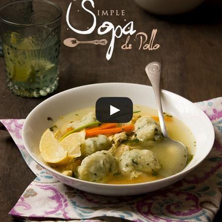 Simple sopa de pollo