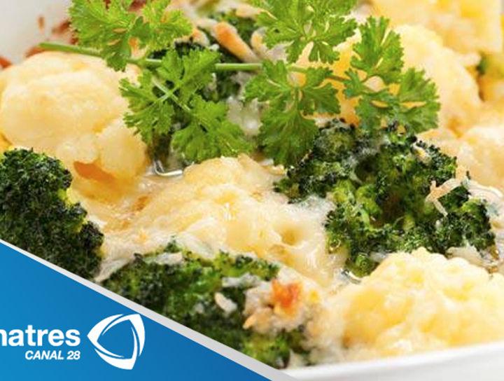 Gratín de brócoli con pollo