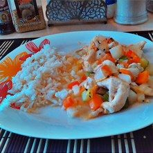 Fajita de pollo con un toque oriental