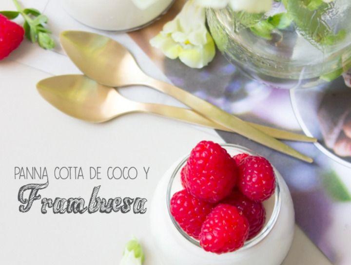 Panna Cotta de coco y frambuesas