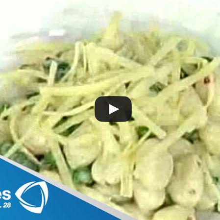 Gnocchis con limón y espinacas