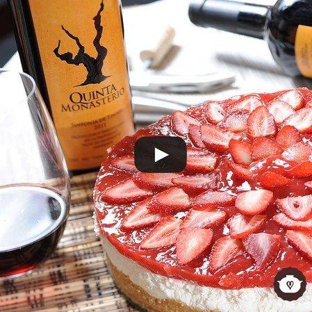 Cheesecake de fresas sin hornear