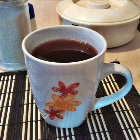Agua de tamarindo con jamaica