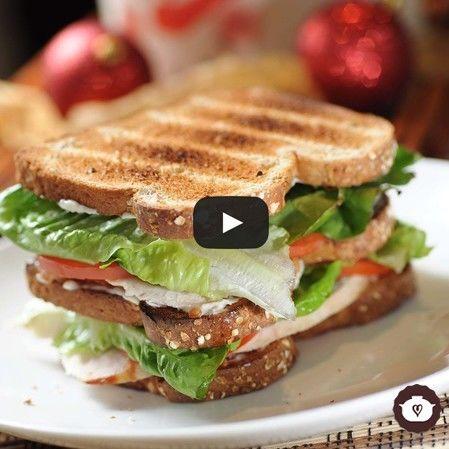 Club sándwich de pavo