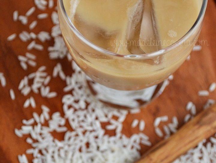 Agua de horchata con café