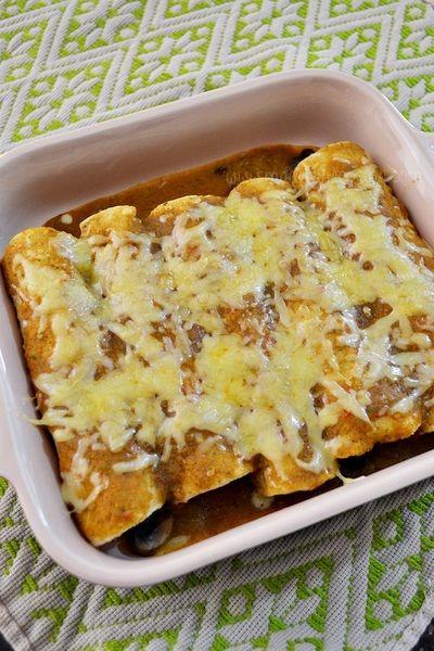 Enchiladas de verduras rostizadas