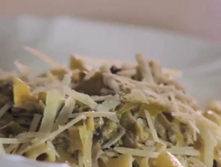 Penne Rigate con salsa de hongos