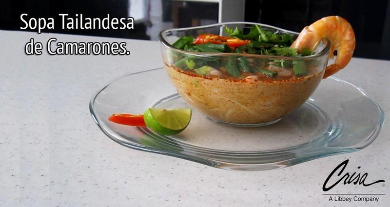 Sopa Tailandesa de camarones